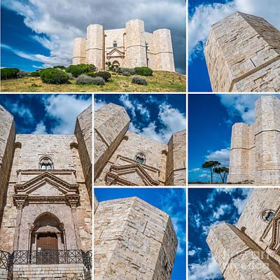 Tile Composition Photograph - Castel Del Monte Collage by Sabino Parente