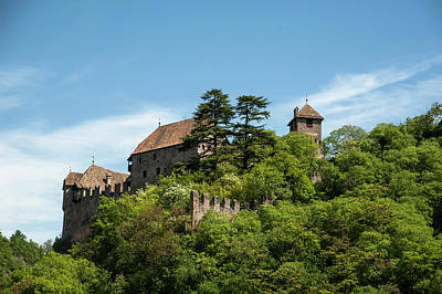 Northern Italy Photograph - Castel Runkelstein Sitting Atop A Hill by Sheila Haddad