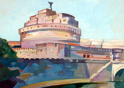 Monument Mixed Media - Castel Sant' Angelo by Filip Mihail
