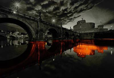 Mausoleum Digital Art - Castel Santangelo by Brian Reaves