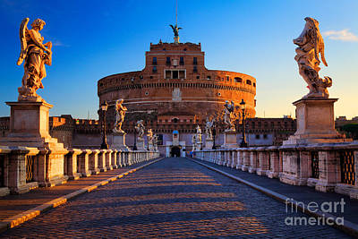 Angelo Photograph - Castel Sant'angelo by Inge Johnsson