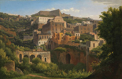 Painting - Castel Sant'elmo From Chiaia. Naples by Alexandre-Hyacinthe Dunouy