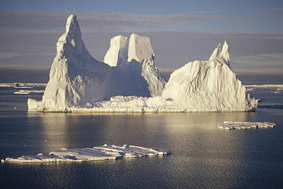 Kemp Photograph - Castellated Iceberg East Antarctica by Tui De Roy