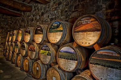 Italian Wine Photograph - Castello Di Amorosa Of California Wine Barrels by Mountain Dreams