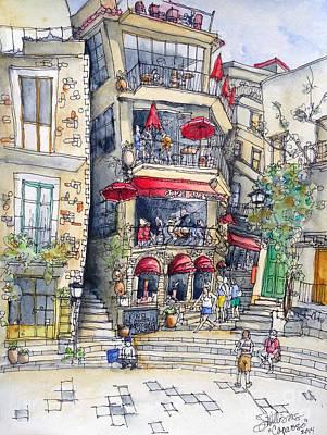 Sicily Painting - Castelmola 4 by Jeffrey Williams