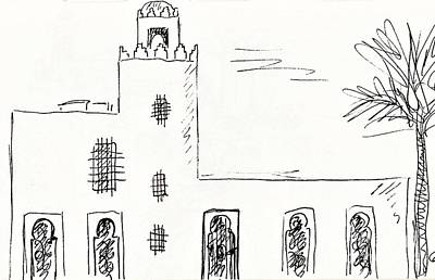 Castillo Bil Bil In Benalmadena  Art Print by Chani Demuijlder