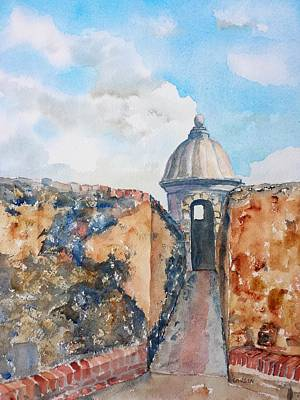 Puerto Rico Painting - Castillo De San Cristobal Sentry Door by Carlin Blahnik