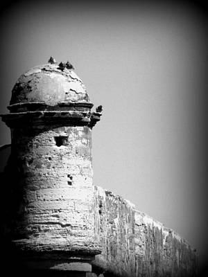 Photograph - Castillo De San Marcos B W 1 by Sheri McLeroy
