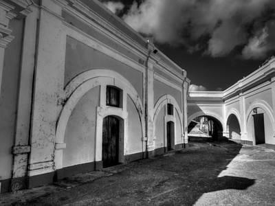 Castillo San Felipe Photograph - Castillo San Felipe Del Morro 003 Bw by Lance Vaughn