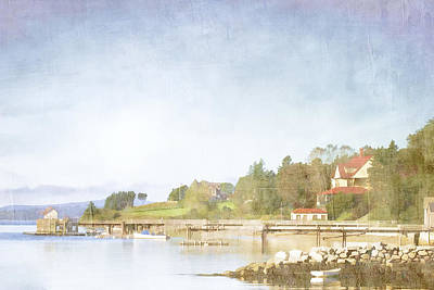 Maine Landscapes Digital Art - Castine Harbor Maine by Carol Leigh