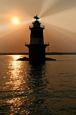 Photograph - Peck's Ledge Lighthouse by Diana Angstadt