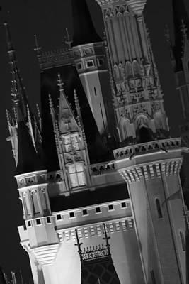 Photograph - Castle - 1- Bw by Nicholas Evans