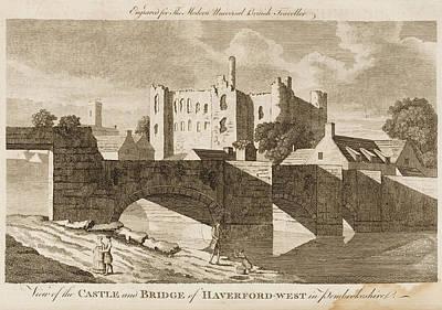 Castle And Bridge, Haverford West Art Print