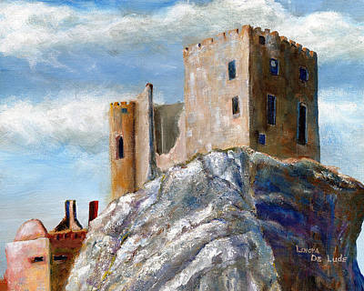 Painting - Castle Art Beckov Slovakia by Lenora  De Lude