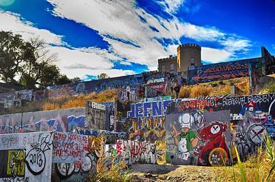 Photograph - Castle Graffiti Art by Kristina Deane