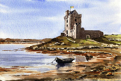 Painting - Castle At Kinvara Galway by Val Byrne