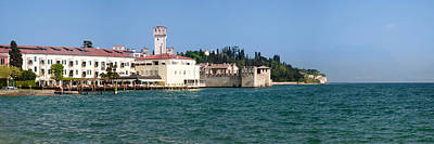 Lake Garda Photograph - Castle At The Lakeside, Scaliger by Panoramic Images