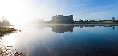 Castle At The Waterfront, Carew Castle Art Print by Panoramic Images