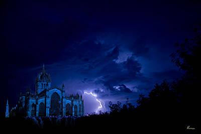 Castle Blue Original by Andrea Lawrence