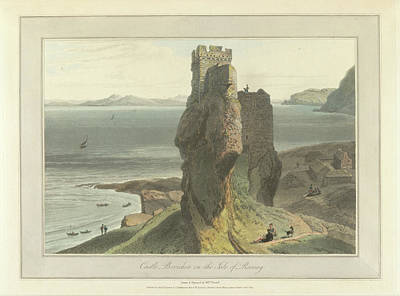 Castle Broichin On The Isle Of Rasay Art Print by British Library