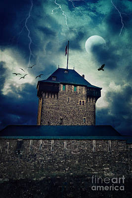 Creepy Mixed Media - Castle Burg by Angela Doelling AD DESIGN Photo and PhotoArt