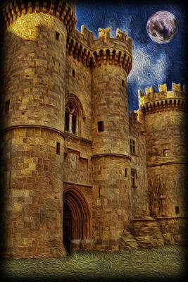 Castle By Moonlight Art Print by Lee Dos Santos