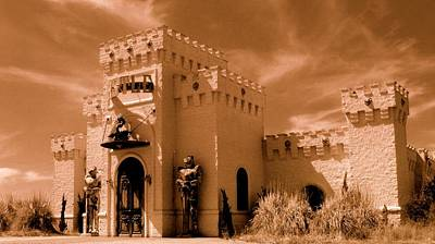 Art Print featuring the photograph Castle By The Road by Rodney Lee Williams