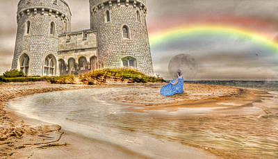 Stormy Weather Digital Art - Castle By The Sea by Betsy Knapp