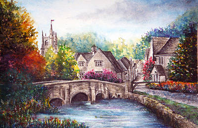 Castle Combe Art Print by Ann Marie Bone
