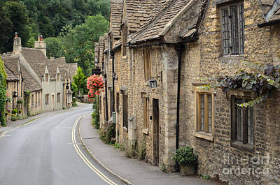 Photograph - Castle Combe Cotswolds Cottages by IPics Photography
