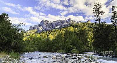 Castella Photograph - Castle Crags And Sacramento River Panorama by Ken Brown