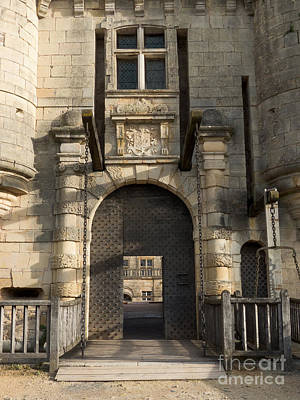 Photograph - Castle Drawbridge Entry by Paul Topp