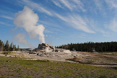 Photograph - Castle Geyser On Sunny Day by Robert  Moss