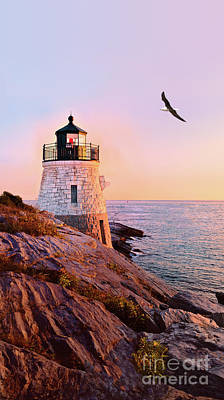 Art Print featuring the photograph Castle Hill Lighthouse 2 Newport by Marianne Campolongo