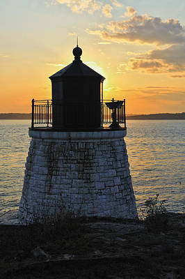 Photograph - Castle Hill Lighthouse Sunset Newport Ri by Marianne Campolongo