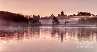 Castle Howard Dawn Art Print by Janet Burdon