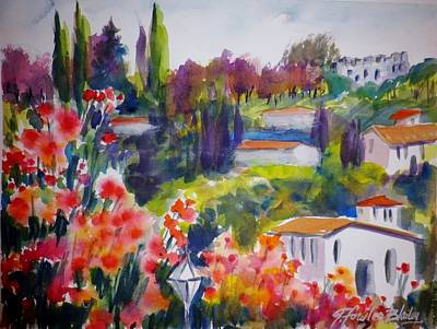 Painting - Castle In Izmir On The Way To Ephesus by Therese Fowler-Bailey