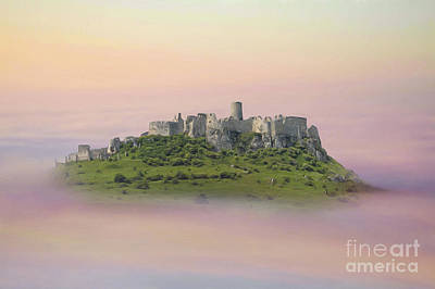 Castle In The Air. - Spis Castle Print by Martin Dzurjanik