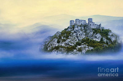 Castle In The Air V. - Strecno Castle Print by Martin Dzurjanik