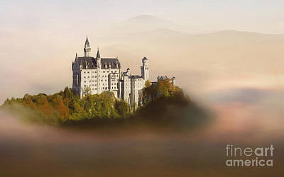 Castle In The Air Vi. - Neuschwanstein Castle Print by Martin Dzurjanik