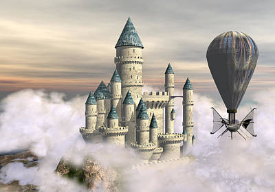 Castle In The Clouds 2 Art Print by David Griffith