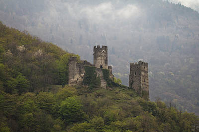 Castle In The Mountains. Art Print