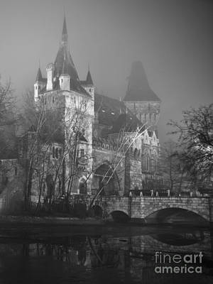 Architecture Photograph - Castle In The Night Fog by Eszter Kovacs