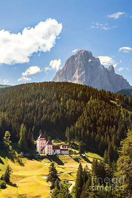 Gardena Photograph - Castle In Val Gardena Near Ortisei by Matteo Colombo