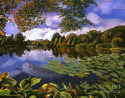 Waterlily Painting - Castle Lake by David Lloyd Glover