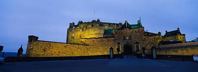Edinburgh Photograph - Castle Lit Up At Dusk, Edinburgh by Panoramic Images