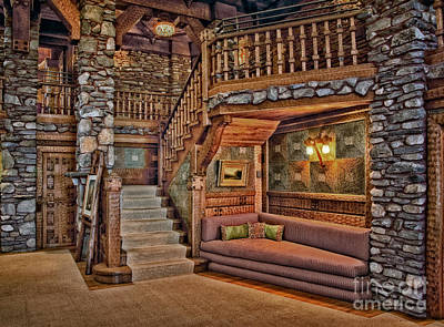 Photograph - Castle Living Room by Susan Candelario