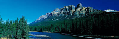 Castle Mountain Banff National Park Art Print by Panoramic Images