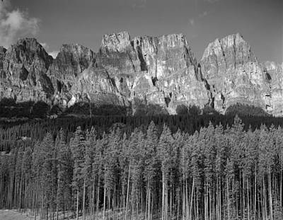 Photograph - 1m3337-bw-castle Mountain  by Ed  Cooper Photography