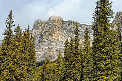 Photograph - Banff's Castle Mountain   by Dyle   Warren